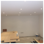 Our Work - Replacement LED lighting throughout property, new gym room, underfloor heating, new distribution board and external lighting.